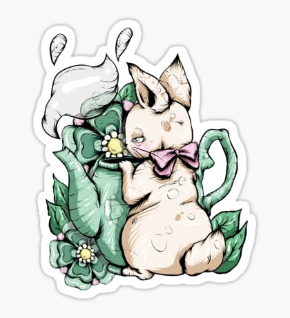 Bunny With Teapot Sticker