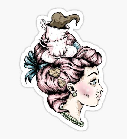 Teacup Lady Sticker