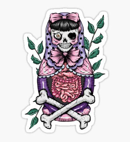 Zombie Russian Doll Sticker