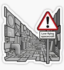 Low Flying Spacecraft - Sticker Sticker