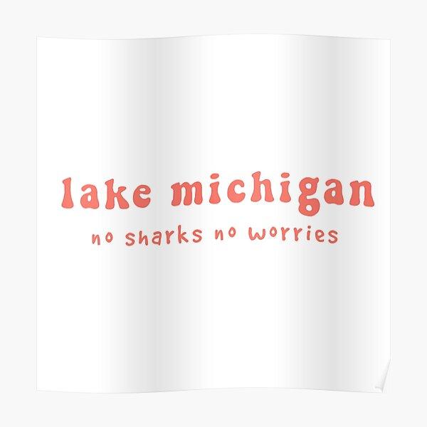 Lake Michigan Groovy Poster