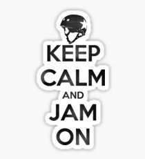 Keep Calm and Jam On, Distressed Decal Sticker