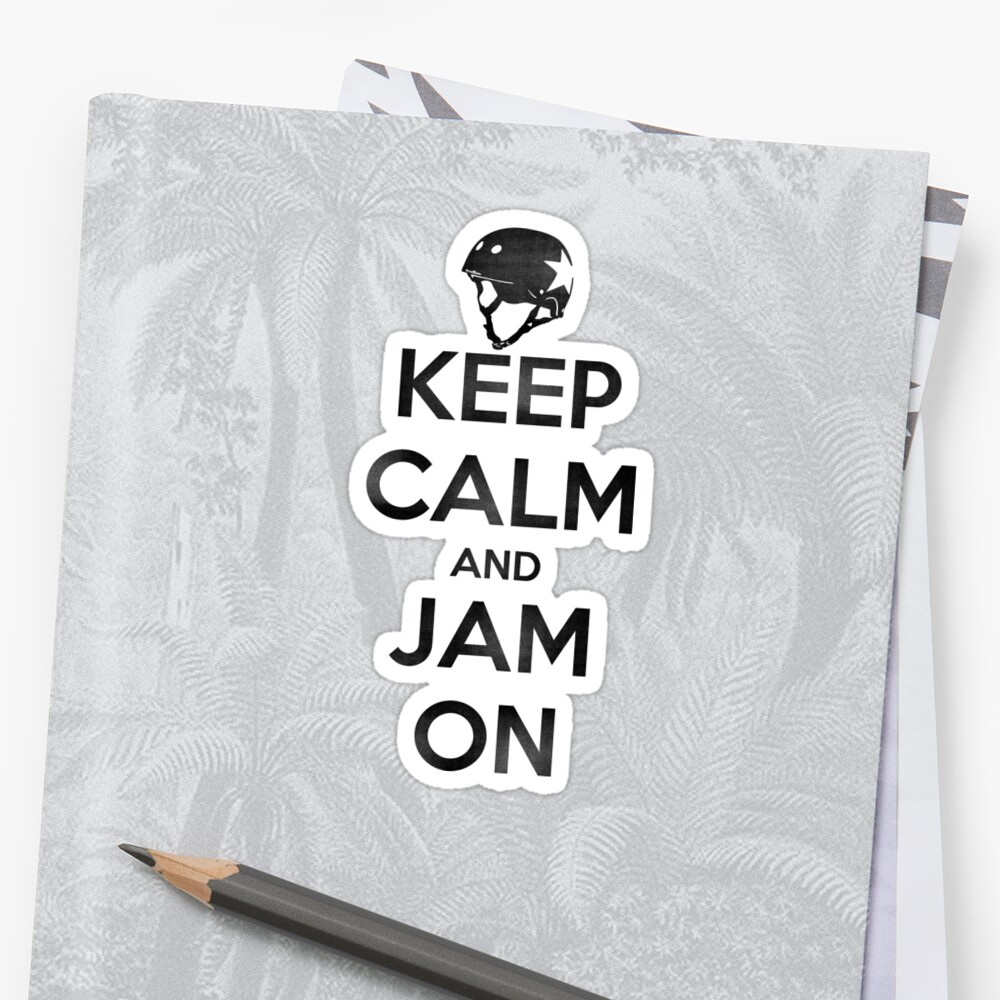Keep Calm and Jam On, Distressed Decal by Scott Harrison