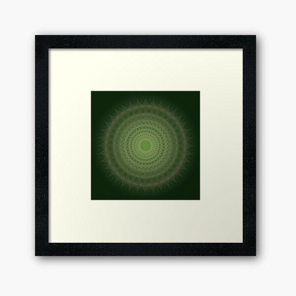 Jade Blossom Framed Art Print