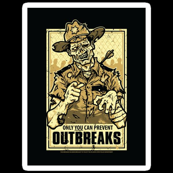 Outbreak Prevention - STICKER by WinterArtwork