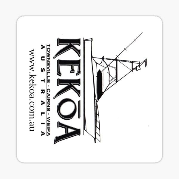 KEKOA Boat Stickers (Boat Silouhette) Sticker