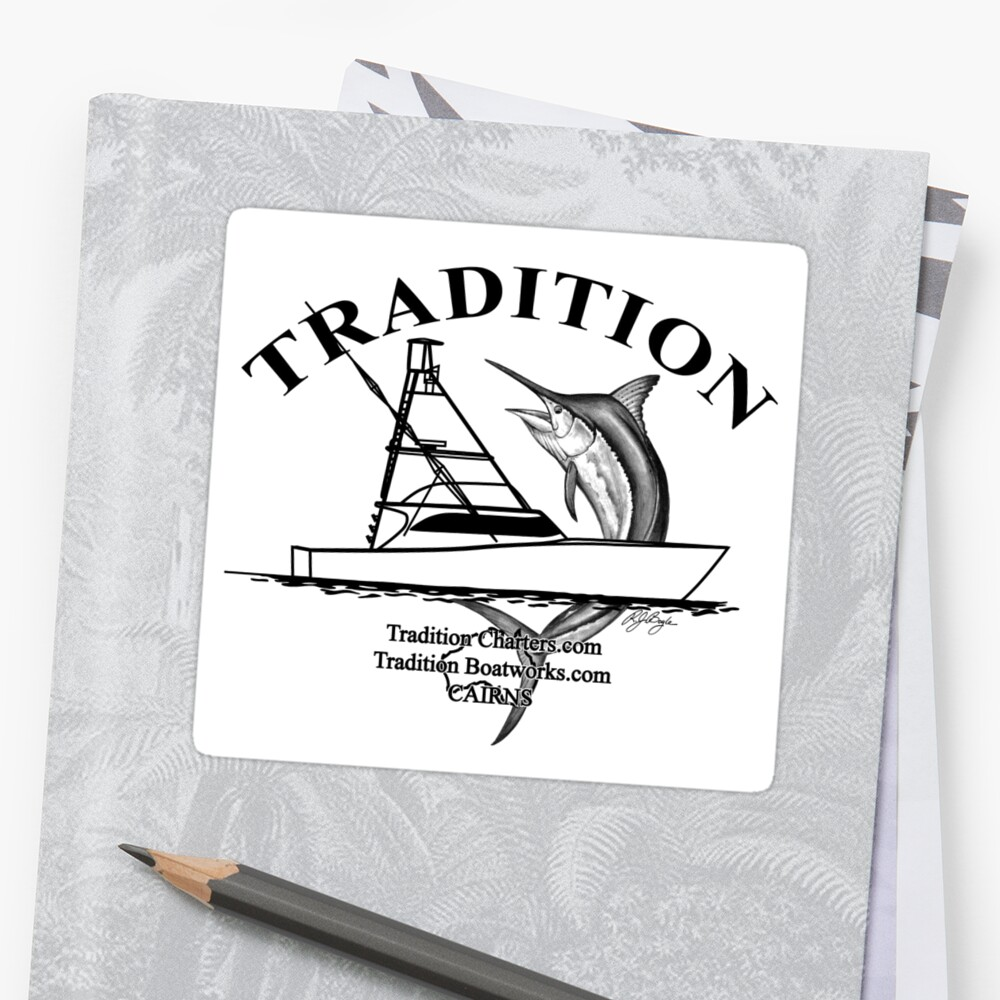 Boat Stickers Tradition Charters Stickers By Blackmarlinblog - Boat stickers