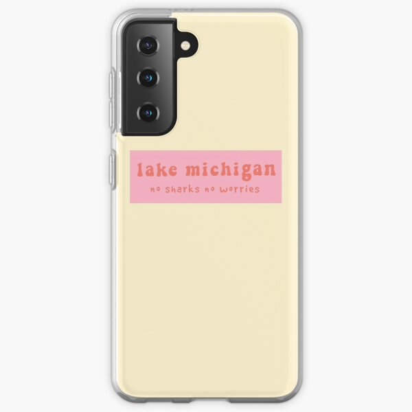 Lake Michigan Groovy Pink Samsung Galaxy Soft Case