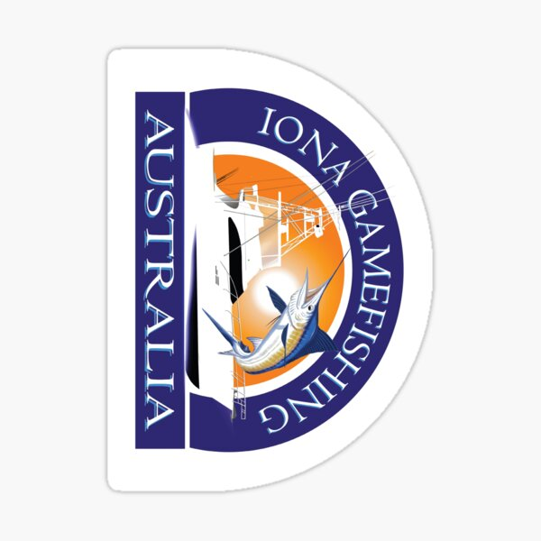Boat Stickers - Iona Game Fishing Sticker