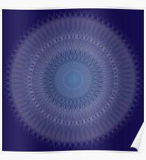 Sapphire Blossom Poster
