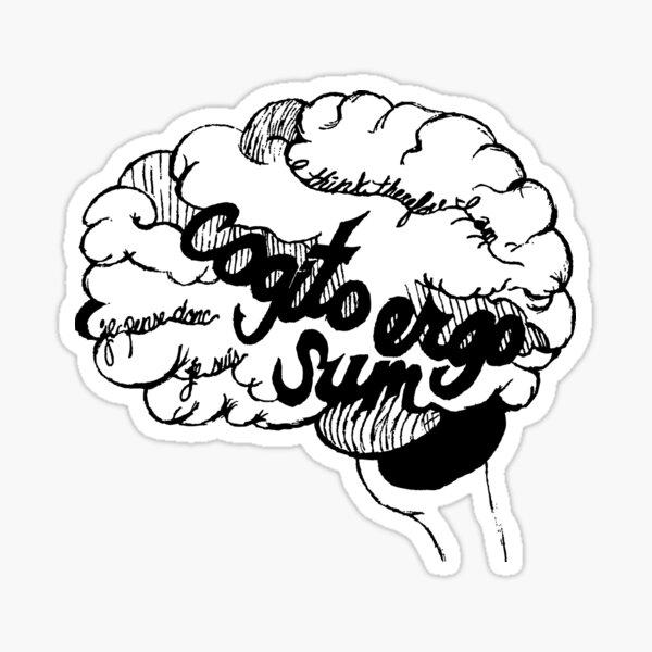Cogito Ergo Sum Sticker