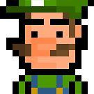 "Pixel Luigi Sticker - ""Super Mario Bros"" by PixelBlock"