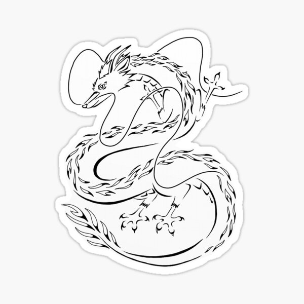 Dragon Sticker By Sophiapeischl Redbubble