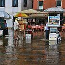 A splash of rain in Venice by John Lines