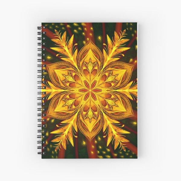 Forest Fire Flake Spiral Notebook