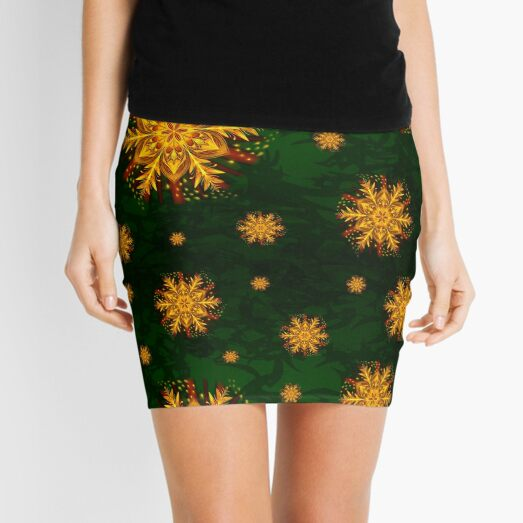 Forest Fire Flake Mini Skirt