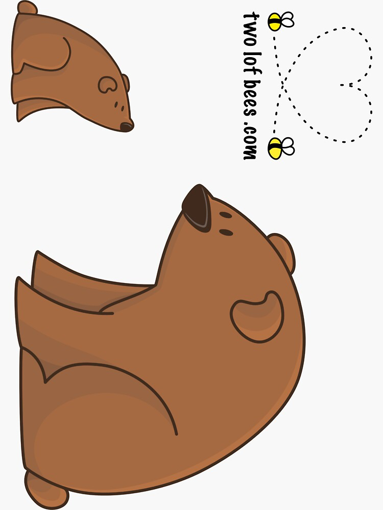 Big Bear and Little Bear (stickers) by Cheeseness
