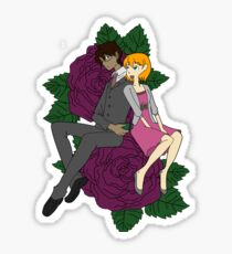 Jenny and Micah sticker Sticker