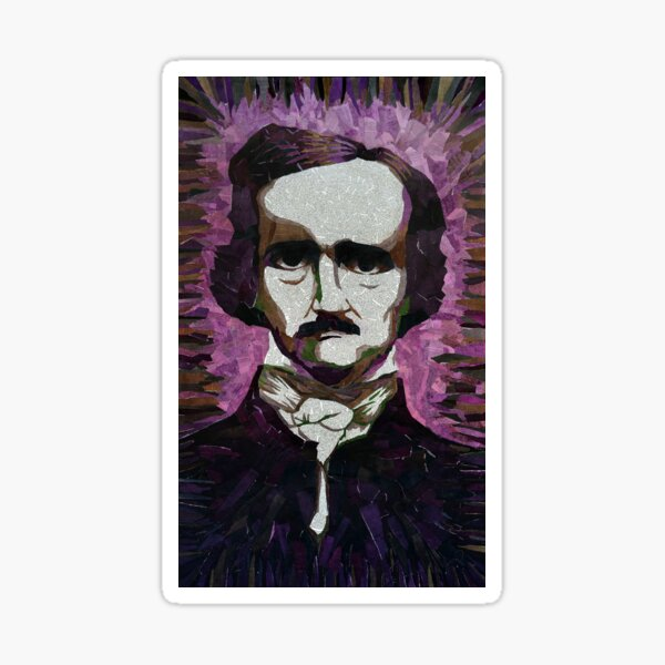 Edgar Allan Poe - Made from the Pages of his Short Stories & Poems Sticker