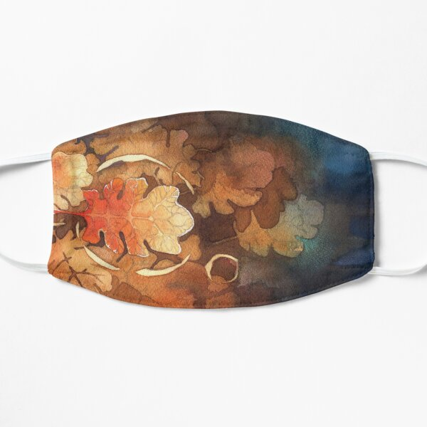 Watercolor Oak and Memory, Tree, Water, Nature Small Mask