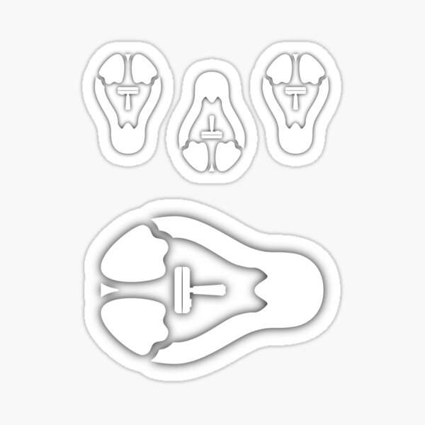 /r/linux_gaming Stycil Tux Stickers (white, assorted sizes) Sticker