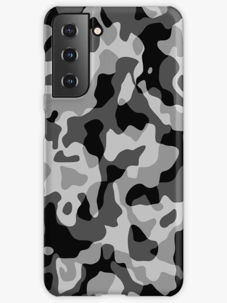 Patron militaire militaire camouflage gris   Coque et skin adhésive Samsung Galaxy