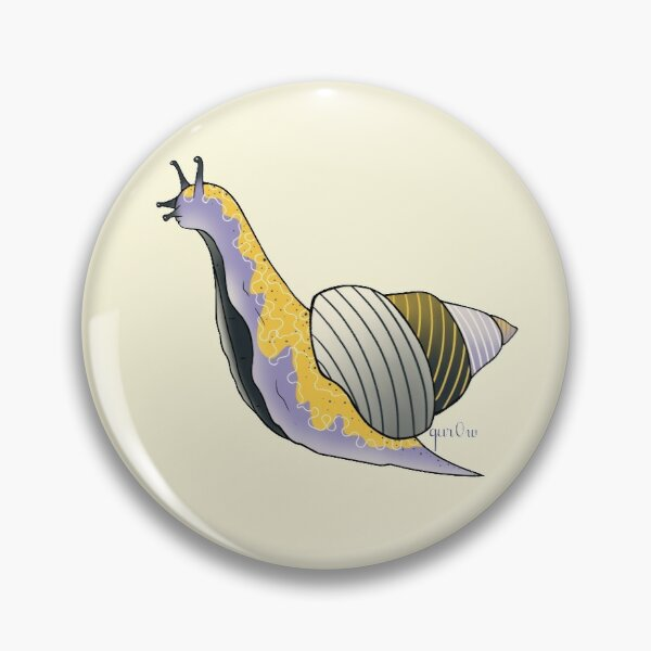 Nonbinary pride flag snail Pin
