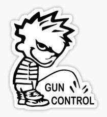 Pegatina Boy Peeing en GUN CONTROL