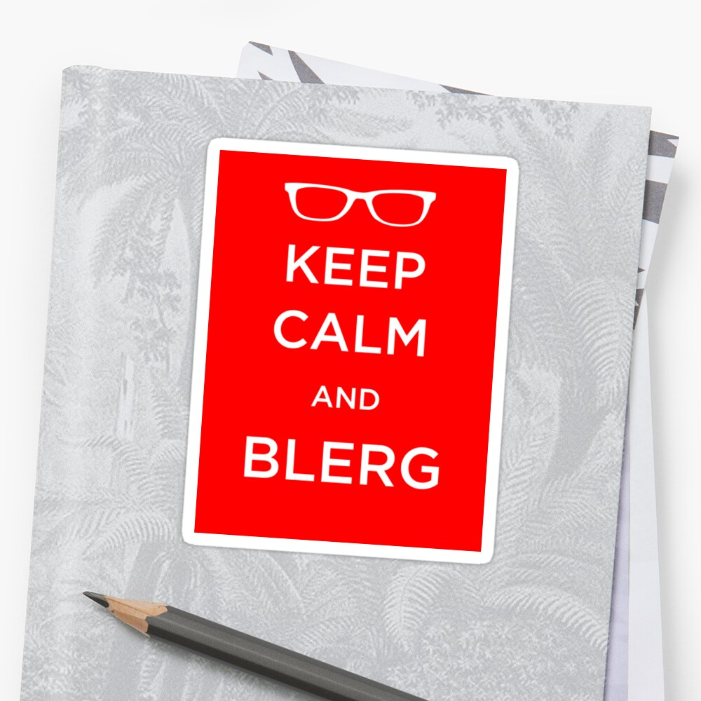 Blerg Sticker by sixtybones