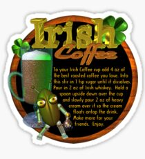 Irish Coffee recipe  Sticker