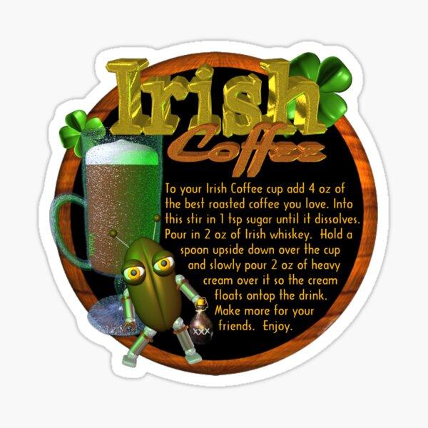 Irish Coffee recipe  Sticker