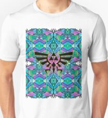 Hylian Royal Crest - Legend Of Zelda - Pattern Blue Unisex T-Shirt