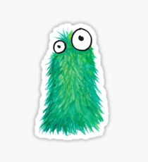 Green Fluff Monster Sticker