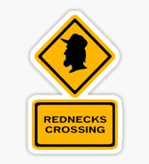 Redneck Crossing Sticker