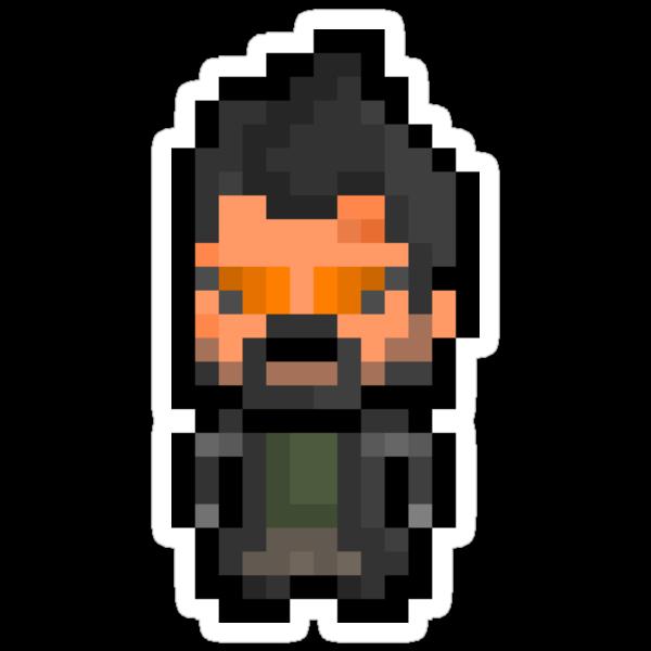 Pixel Adam Jensen (Deus Ex : Human Revolution) Sticker by PixelBlock