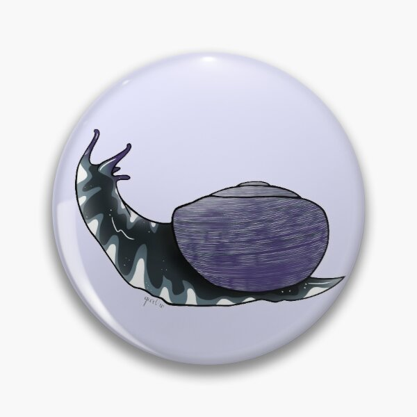 Asexual pride flag snail Pin
