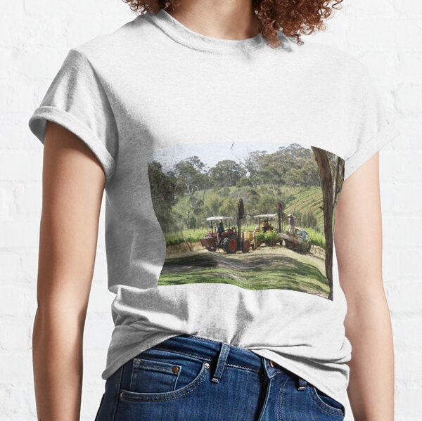 Ramming posts on the Vineyard - by South Australian artist Avril Thomas Classic T-Shirt