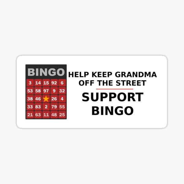 Support bingo! Sticker