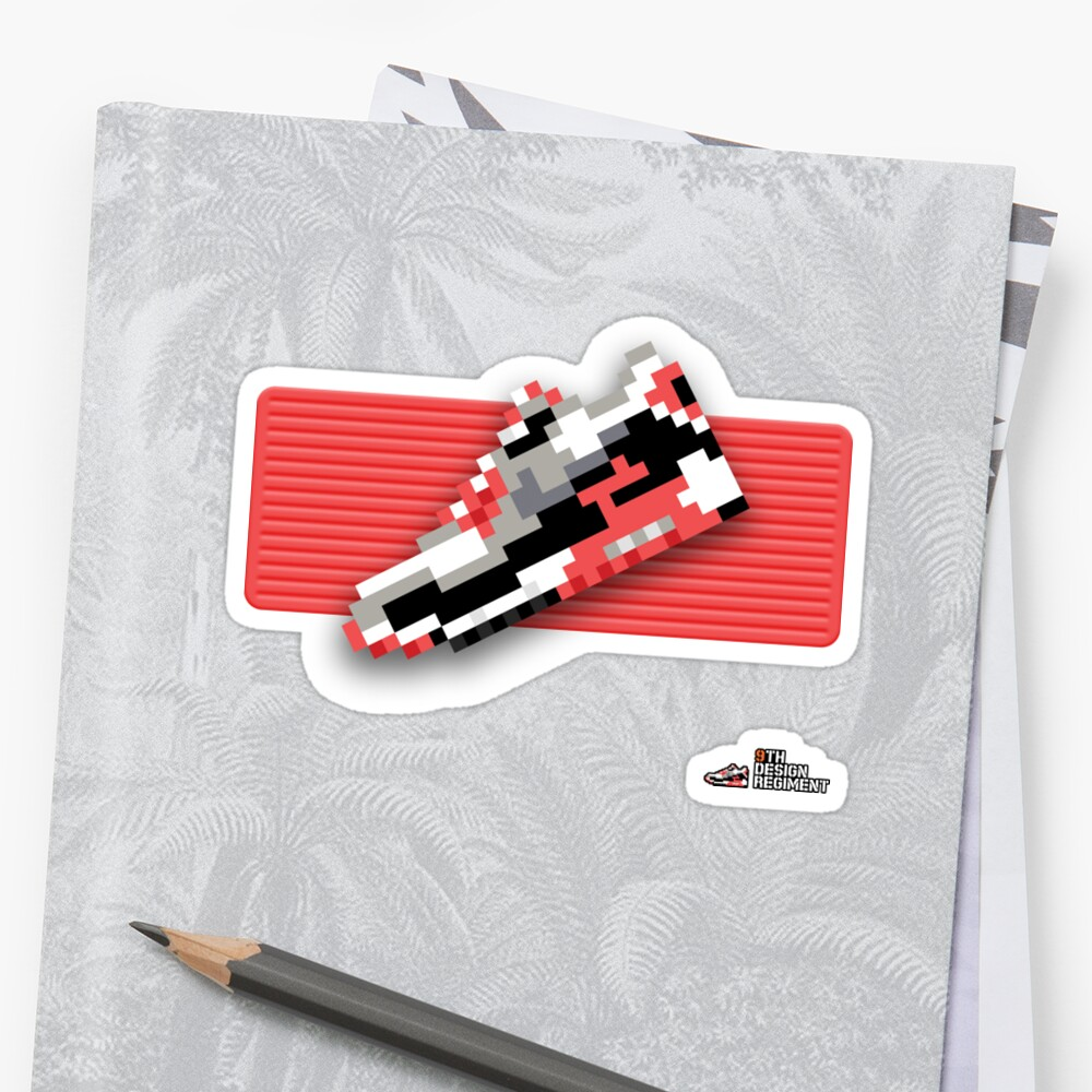 8-bit running shoe sticker by 9thDesignRgmt