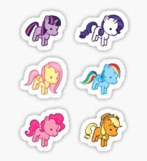 Lil' Fillies Stickers (Mane Six) Sticker