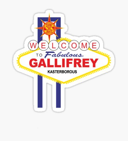 Dr Who - Welcome to Gallifrey Sticker