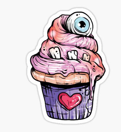 Eyeball Cupcake Sticker