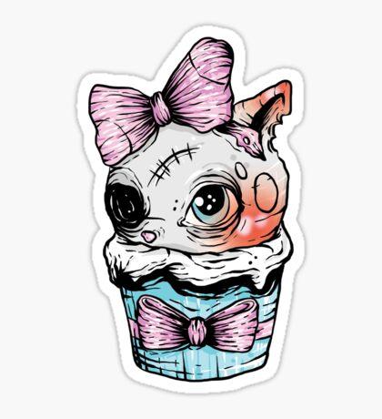 Kitten Cupcake Sticker