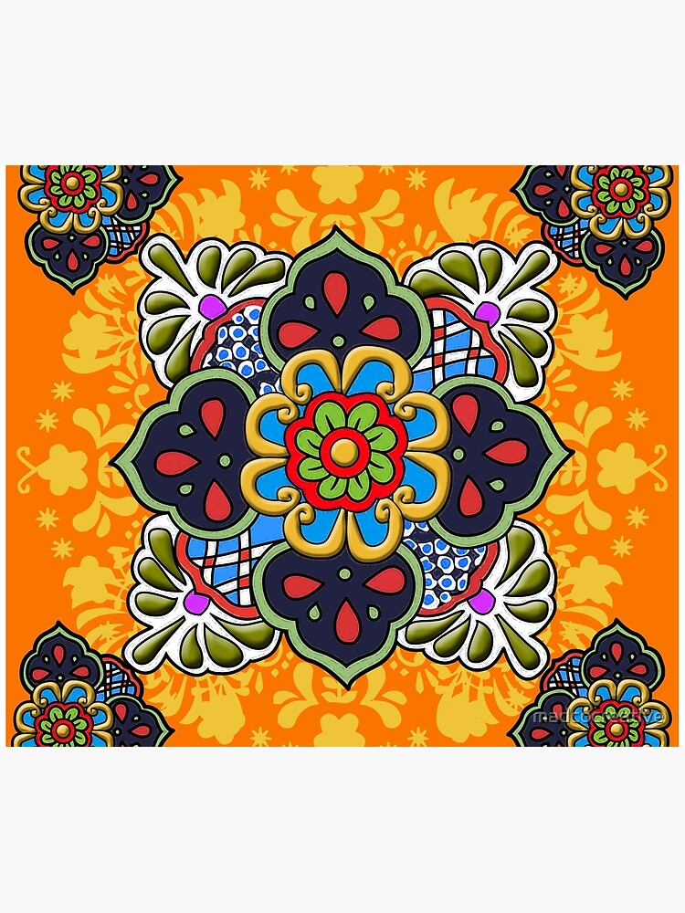 Mexican Talavera Flower by madcocreative