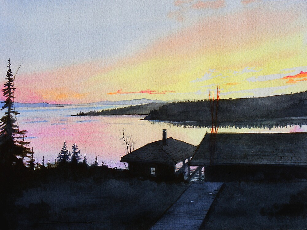 Rossport Bay Sunset by Douglas Hunt
