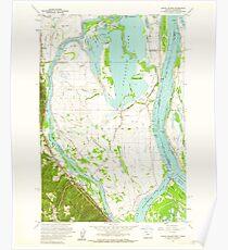 USGS Topo Map Oregon OR Sauvie Island 281402 1961 24000 Poster