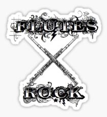 Flutes Rock Sticker