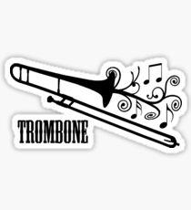 Trombone with swirls Sticker