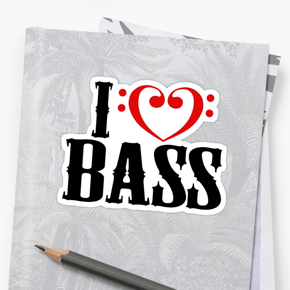 I Love Bass by shakeoutfitters