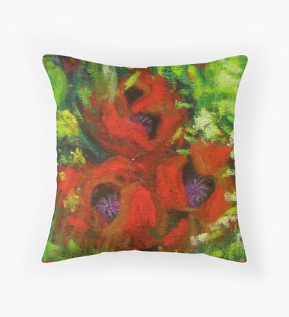 Poppies for  the Fallen Throw Pillow